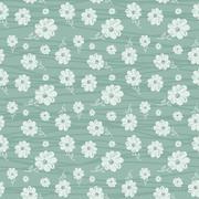 classic wallpaper seamless vintage flower pattern - stock illustration