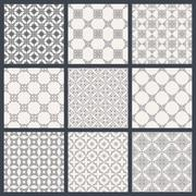 Eastern backgrounds seamless patterns - stock illustration