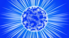 Blue abstract background, sphere and ray, loop Stock Footage