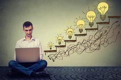 Man working on computer successful in increasing internet website traffic Kuvituskuvat
