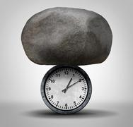 Time Pressure Stock Illustration
