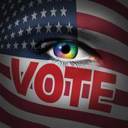 American Voter Concept Stock Illustration