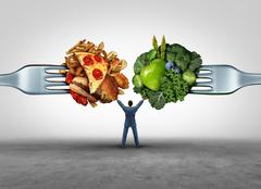 Food Health Decision Stock Illustration