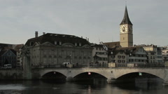 Stock Video Footage of St. Peter Church - Zurich