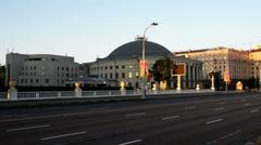 Belarusian State Circus in Minsk, Belarus Stock Footage