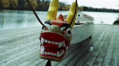 Dragonboat Head, Close Up Stock Footage