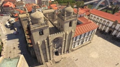 Drone Travel Architecture Historic Church Drone Famous Landscape Europe Old Stock Footage