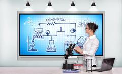 Scheme chemical reaction Stock Photos