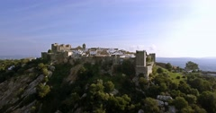 4K Aerial, Flight along the beautiful Castillo de Castellar, Andalusia, Spain - stock footage