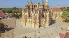 Drone Footage Batalha Church Monastery Architecture Travel Famous Landmark Arkistovideo