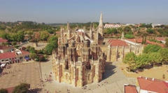 Footage Batalha Church Drone View Monastery Architecture Travel Famous Landmark Arkistovideo