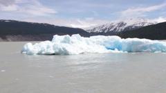 Iceberg on Grey Lake, Patagonia, Chile Stock Footage