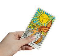 Tarot card, The Sun - stock photo