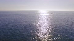 Drone Footage Seascape Sunlight Nature Idyllic Reflection Sky Summer Travel Stock Footage