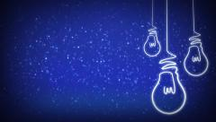 Light Bulb Glowing Lines on Stars 4K Stock Footage
