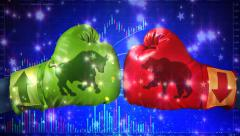 Stock Market Boxing Gloves Explosion 4K Stock Footage