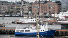 Boats in Oslo Harbor - Oslo Norway Europe Stock Footage