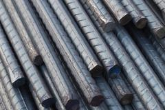 Stock Photo of Steel rods or bars for construction