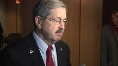 Terry Branstad Governor of Iowa Stock Footage
