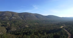 4K Aerial, Beautiful views over a mountain range in Spain Stock Footage