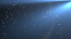 Particle seamless background. Dust and light animation. 4K - stock footage