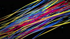 Colorful rainbow abstract streak line pattern moving with light background loop - stock footage