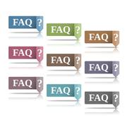 FAQ Stock Illustration