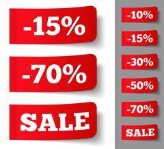 Price Tags - stock illustration