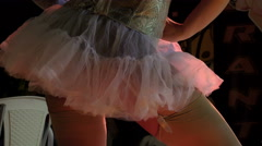 artist perfoming a burlesque strip on stage - stock footage