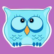 Funny cute animal, owl. Owl vector illustration eps 10 - stock illustration