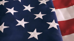 Large American Flag on the table. - stock footage