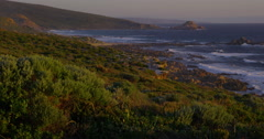 Sunset along Western Australia Coastline Stock Footage
