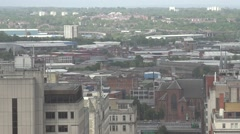 4K Panoramic view Birmingham suburban area busy traffic car highway freeway day  Stock Footage