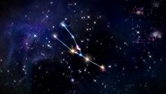 Taurus Horoscopes space track in - stock footage