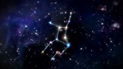 Virgo Horoscopes space track in Stock Footage