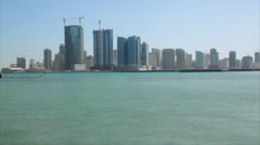 View of Juffair from the corniche, Manama, Bahrain Stock Footage