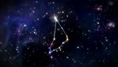 Capricorn Horoscopes space track in - stock footage