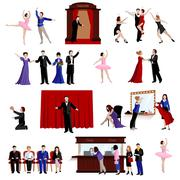 Stock Illustration of Images Set Of Theater People