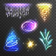 Light effects set - stock illustration