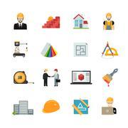 Stock Illustration of Architect icons set