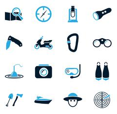 Active recreation icons - stock illustration