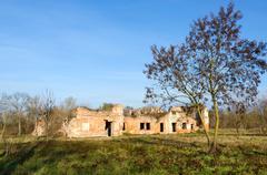 Ruins of Bernardine convent in Brest Fortress, Belarus Stock Photos