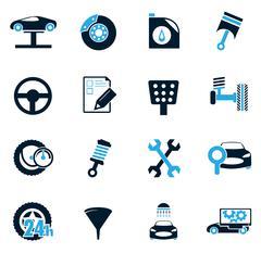 Car service icons set - stock illustration