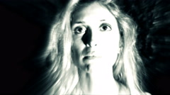 Ghost apparition of a young woman dead for a violence Stock Footage