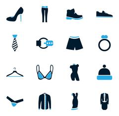 Clothes Icons set - stock illustration
