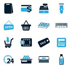 Grocery store icon - stock illustration