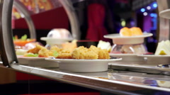 Example of ethnic cuisine, japanese restaurant Stock Footage