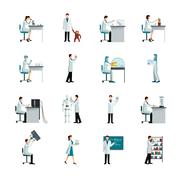 Scientist Decorative Icons Set - stock illustration