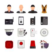 Home Security Icons Piirros