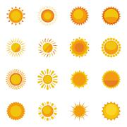 Sun Icons Collection - stock illustration